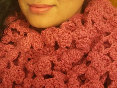 Bufanda circular en crochet(ganchillo) fácil,rápida y bonita