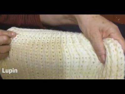 Capa,  tejida con puntada espuma de mar. Crochet. Ganchillo parte 1.2