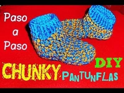 Chunky Slippers- Pantunfla en Botita!! TEJIDAS A CROCHET