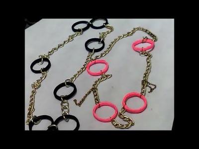 Collar reciclado de hojas de colores --  Paper circles necklace