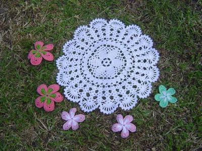 Como Aprender a tejer carpeta Fácil, a crochet paso a paso DIY parte 1.2