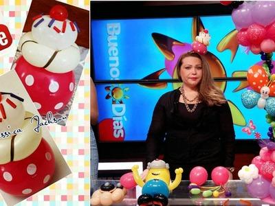 Como hacer Cintillo CupCake con globos. Balloon Craft