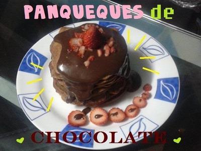 COMO HACER PANQUEQUES DE CHOCOLATE, DIY, COMIDA FACIL