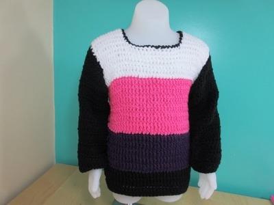 Crochet abrigo de niño o niña de 3 a 5 años - Con Ruby Stedman