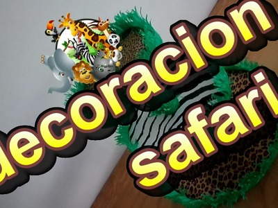 Decoracion SAFARI para exhibidor de cupcakes *diy*