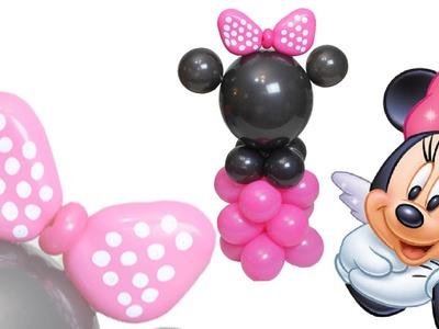 DIY Curso de Globos Columna. Centro de Mesa  Minnie Mouse