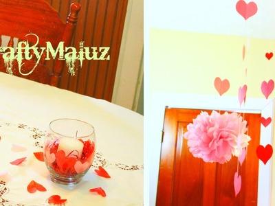 ♥DIY: Decoración para San Valentin (Manualidades Fáciles)