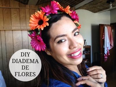 DIY DIADEMA DE FLORES PARA TU DISFRAZ | Rebeca Linares
