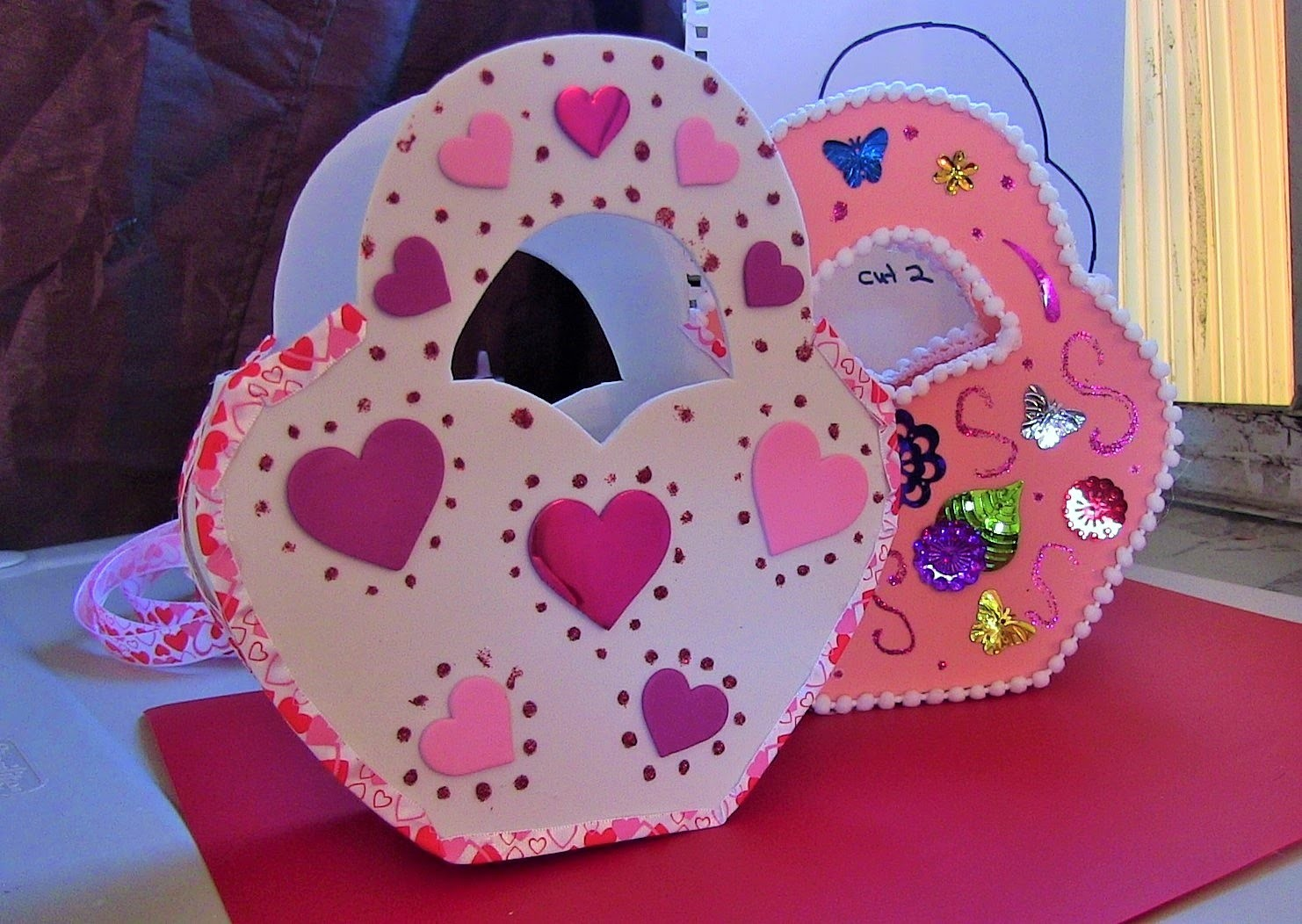 DIY Heart Purse Fomi San Valentines
