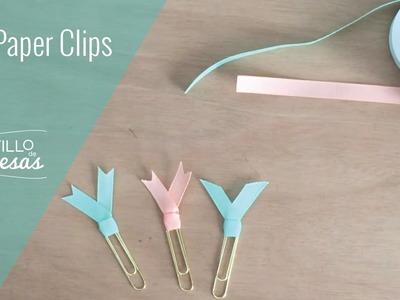 DIY: Paper clips con cintas