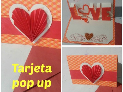 DIY | Trajeta pop up love | Regalo para 14 de febrero