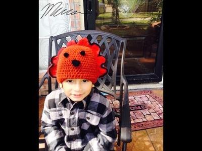 DIY Turkey crochet hat, gorra de Pavo