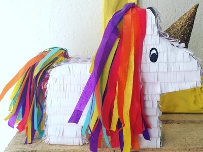 DIY UNICORNIO ALCANCIA | unicorn piñata - Consejosjavier