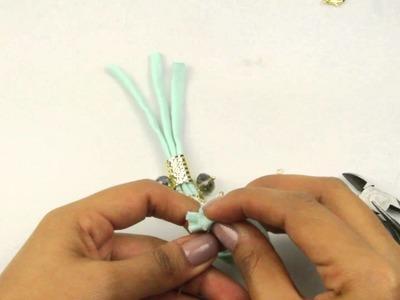 El Galeón DIY Brazalete de Trapillo con Separador y Cristal