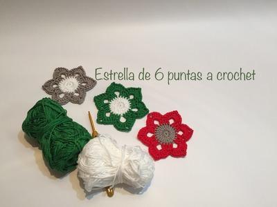 Estrella 6 puntas a crochet