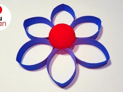 Flores de Papel con Rollos de papel higiénico | Ideas Navidad
