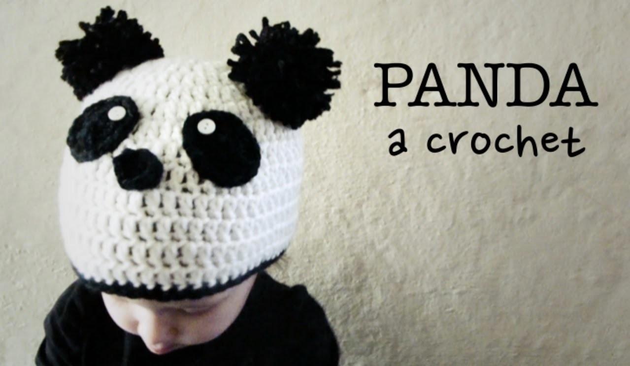 Tuto panda au crochet spécial gaucher 2/2 - YouTube | 744x1279