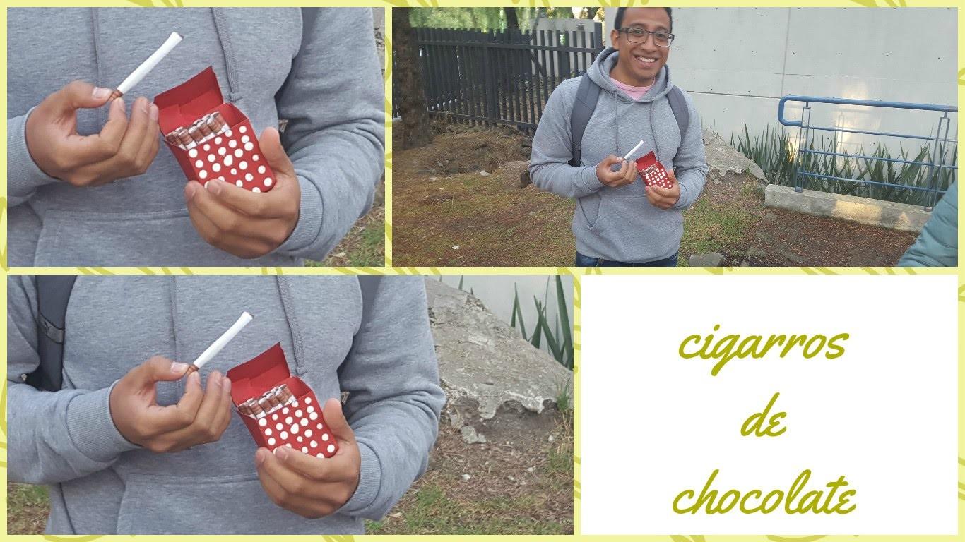 Has tus propios CIGARROS DE CHOCOLATE, DIY super facil y muy bonito