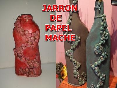 JARRON DE PAPEL MACHE - VASE PAPER MACHE