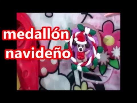 Medallón navideño (porcelana fría) DIY  Christmas medallion (cold porcelain) DIY