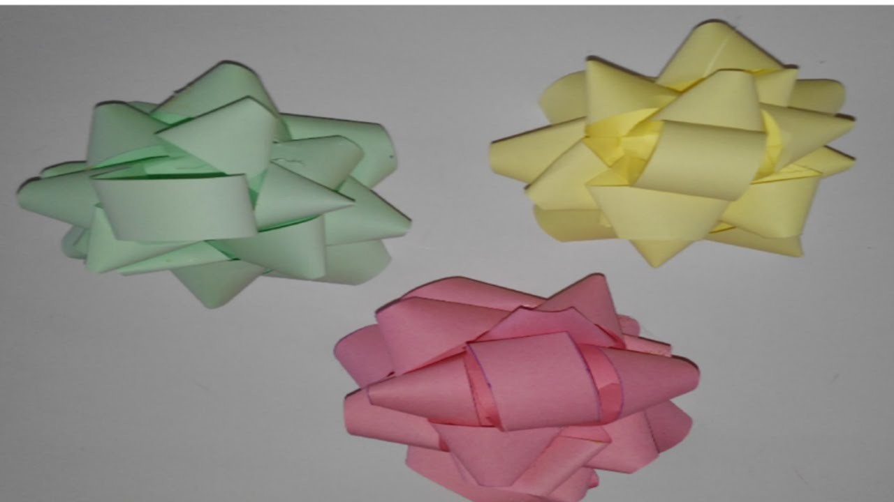 Moños para regalos  manualidades tutorial DIY how to bow for gift comment