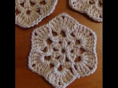 Paso a paso pastilla de flor de seis pétalos a crochet