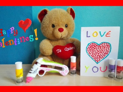 Play Doh DohVinci easy valentine card painting DIY Tarjeta de San Valentin DohVinci
