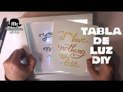 Tabla trazadora de luz casera - DIY Light pad