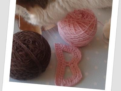 Tejer paso a paso la letra B.how to crochet letter B