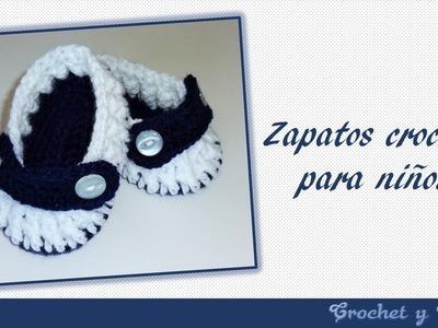 Zapatos – escarpines crochet para bebés
