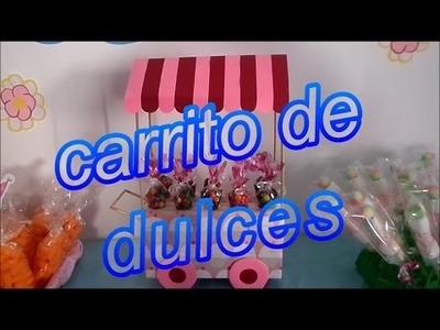 Carrito exhibidor de dulces DIY (MESA DE POSTRES O DULCES 1° PARTE)