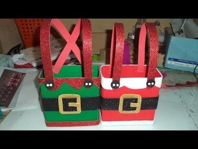 Como hacer dulcero cajita para navidad DIY