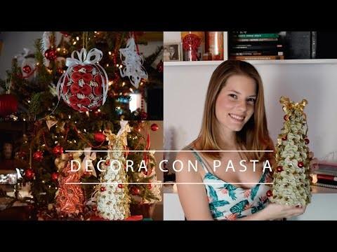 DIY   Arbolito y decoración de Navidad con Pasta