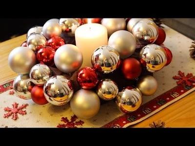 DIY: Centro de mesa navideño (corona)