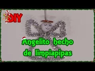 DIY || Cómo hacer un angelito navideño hecho de limpiapipas