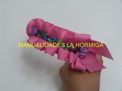 Diy. Diadema decorada con cinta plisada a mano paso a paso. Headband for girls