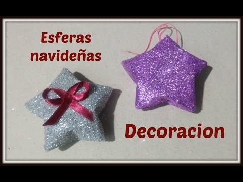 DIY | Esfera con forma de estrella | Decoración para navidad