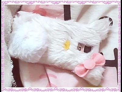 DIY funda para móvil.celular de hello kitty