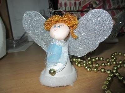 Diy manualidades: como hacer un angelito navideño de cartulina