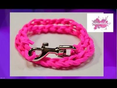 DIY. Pulsera crochet.Muy fácil!!. Crochet bracelet. Very easy!!