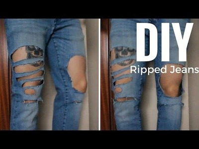 DIY Ripped Distressed Jeans | DIY Vaqueros rotos | Men's Fashion | Alex Style