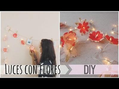 Luces con flores hechas a mano -DIY | Celhelíz