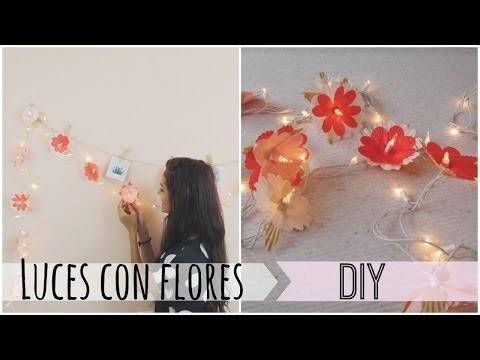 Luces con flores hechas a mano -DIY   Celhelíz