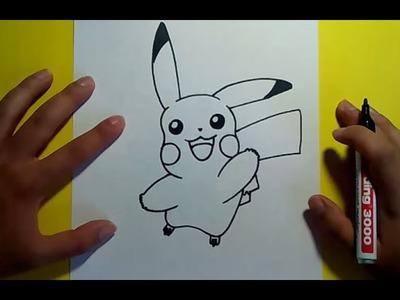 Como dibujar a Pikachu paso a paso - Pokemon | How to draw Pikachu - Pokemon