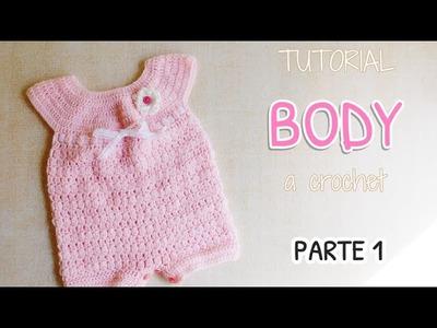 Como tejer un body, enterito a crochet (1.2)