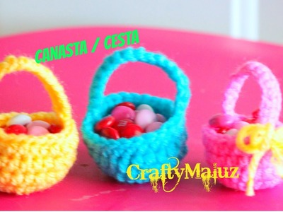 (CROCHET TUTORIAL) Canastas Tejidas en Crochet paso a paso Craftymaluz