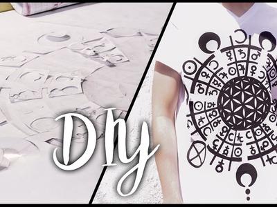 DIY | ESTAMPADO EN CAMISETA - Stencil en casa