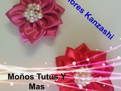 Flor Kanzashi Paso a Paso 10 petalos - Kanzashi flower DIY tutorial