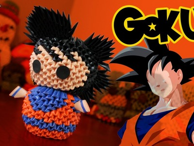 Goku (Dragon Ball) 3D Origami | Pekeño ♥