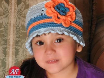 Gorrito tejido para niñas